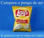 Asta ar fi o reclama potrivita pentru pungile de Chips-uri