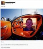 s-a laudat pe facebook cu noua lui masina