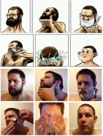 atunci cand te barbieresti