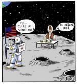 Românul a fost de fapt primul om pe lună! :)))