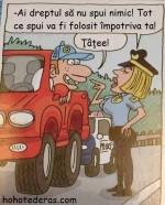 Şofer tupeist în dialog cu o poliţistă! :)))