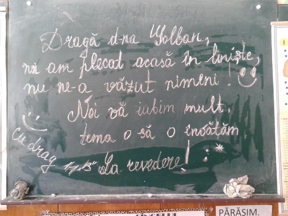 mesaj pentru d-na profesoara