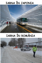 Iarna în Japonia vs Iarna în România! :)))