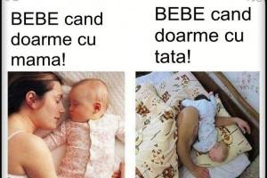 bebe cand doarme cu mama