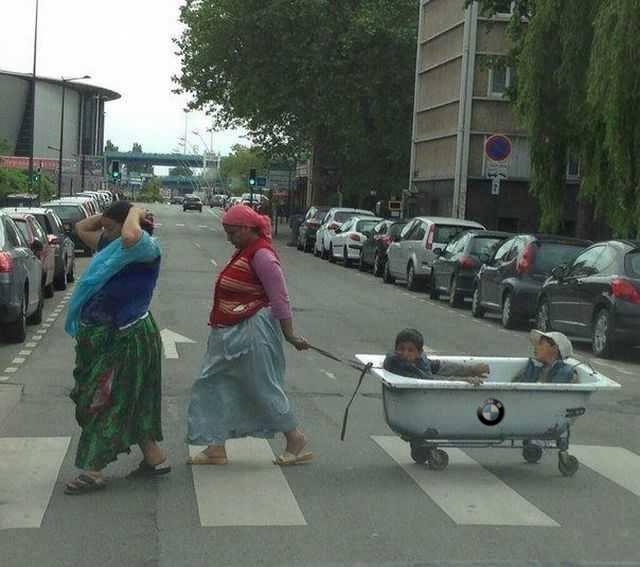 la plimbare prin oras