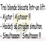 BANC – 3 blonde intr-un lift.. :))
