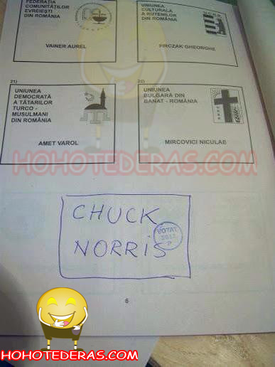 chuck Noriss alegeri