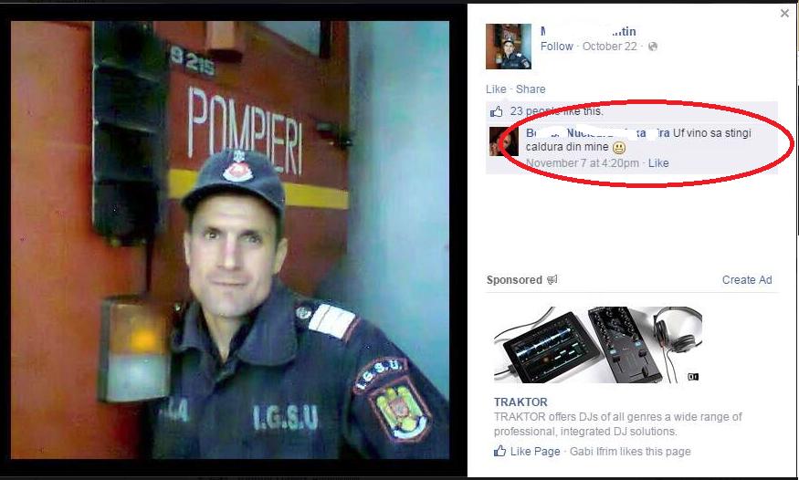 Pompier in Romania